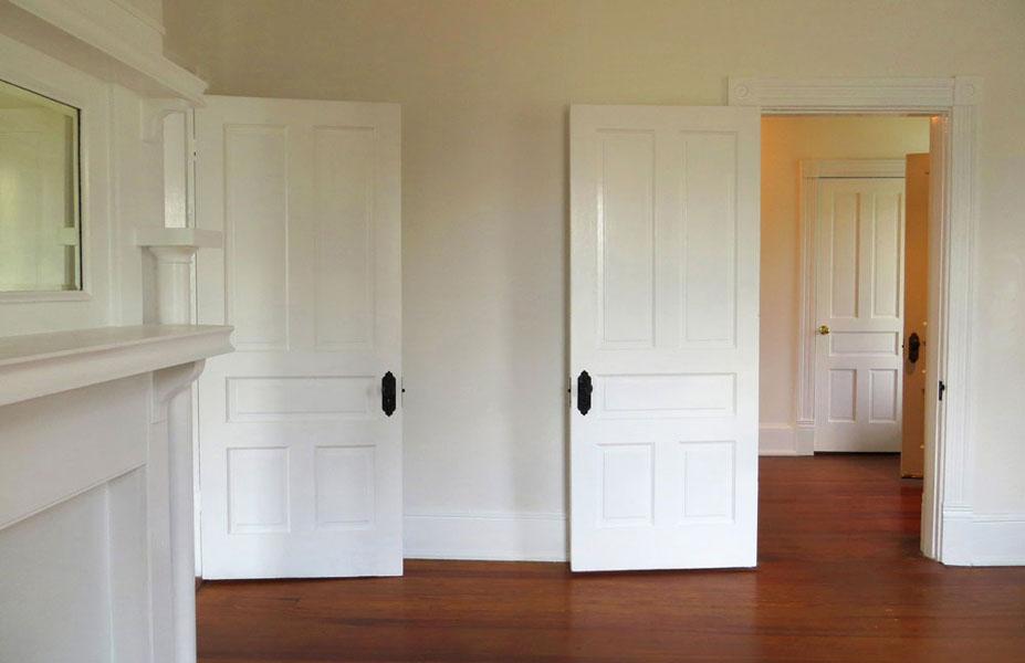 Three White Doors
