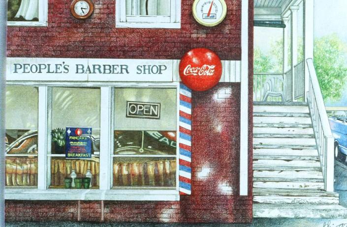 Peoples Barber Shop ©Blair Jackson