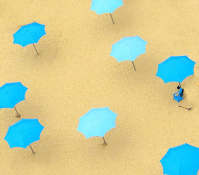 Seafoam Umbrellas - Photo by Blair Jackson